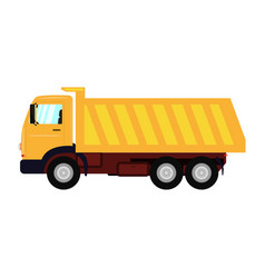 a cartoon yellow truck vector image vector image