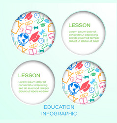 Abstract education infographic concept vector
