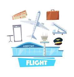 Airport and flight service icon for travel design vector