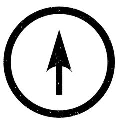 Arrow axis y icon rubber stamp vector