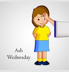 Ash wednesday background vector