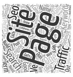 Basic seo wisdom text background wordcloud concept vector