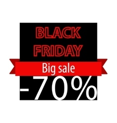 Black Friday offer banner template vector image