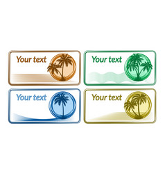 business card with palms vector image