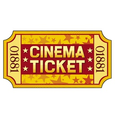 cinema ticket vector image vector image
