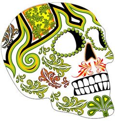 Day of the dead mexican festival vector