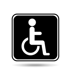 disabled handicap sign graphic vector image