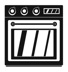 Electric oven icon simple style vector