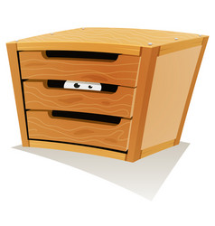 eyes inside wood drawer vector image vector image