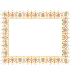 floral ornament blank template vector image