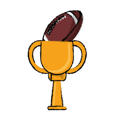 Football award cup sport win vector