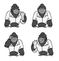 Gorilla lab suit collection vector