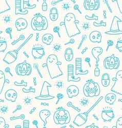 Halloween doodle pattern vector