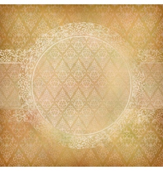 Lace banner card abstract vintage background vector