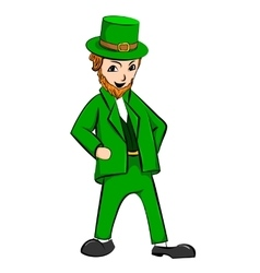 Leprechaun St Patricks Day cartoon character vector image