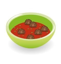 Meatballs in tomato sauce vector