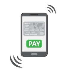 Mobile payments symbol vector image vector image