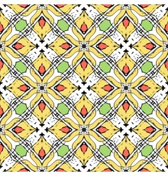 Oriental pattern with Indian Thai ethnic motifs vector image vector image