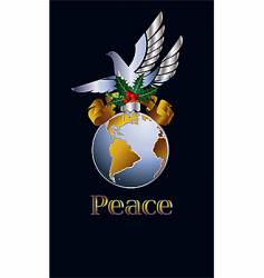 peace on earth vector image vector image