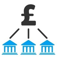 Pound Bank Organization Flat Icon Symbol vector image