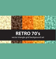 Retro pattern set seamless vintage backgrounds vector