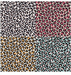 seamless leopard cheetah animal skin pattern vector image