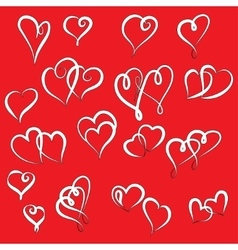 Set of valentine hearts for your design vector image vector image