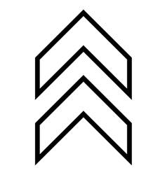 Shift up contour icon vector