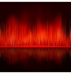 sound waves oscillating vector image vector image