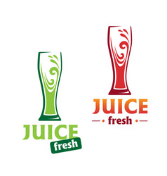 symbol abstract red and green juice vector image vector image