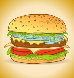 Tasty Burger vector image vector image