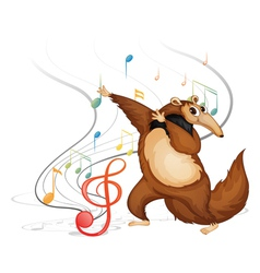 The dancing four-legged animal vector image vector image
