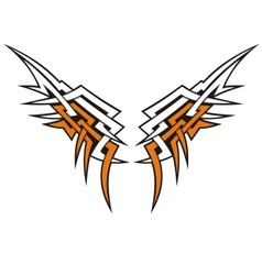 tribal wings vector image vector image