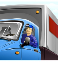truckie vector image