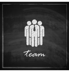 vintage with business team symbol on blackboard vector image vector image