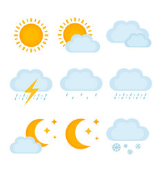 weather forecast metcast signs vector image vector image