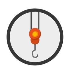 Crane hook icon vector