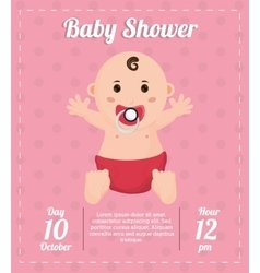 Baby boy of baby shower card design vector