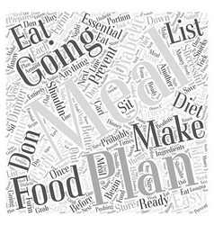 Easy meal planning for diabetics word cloud vector