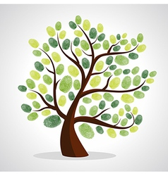Finger prints tree vector