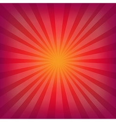 Red and orange background with sunburst vector