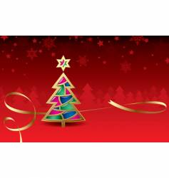 Christmas & New-Year's greeting card vector image
