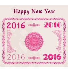 Happy new year 2016 decor text design vector