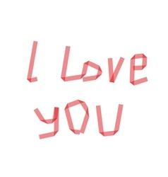 Dry i love you ribbon vector