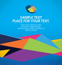 Abstract modern geometric background vector