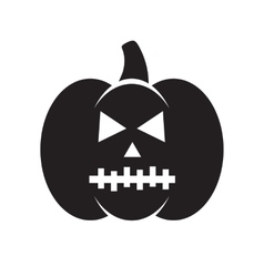 Black Halloween pumpkin vector image vector image