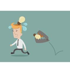 Business man lose idea vector