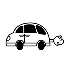car toy isolated icon vector image vector image
