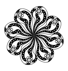 Circle flower ornament vector