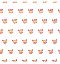 Cute bear pattern vector